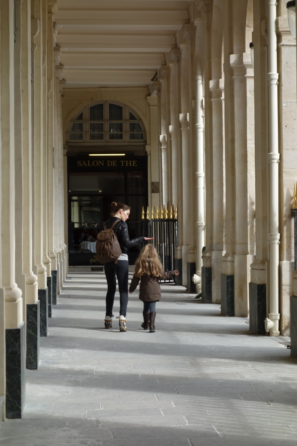 Parisian Mother and child Palais Royal