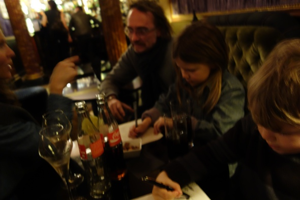 Champagne, Cokes and drawing at L'Hotel