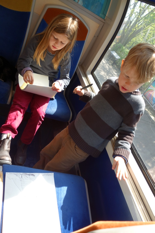 My little travellers, plane (check), train (check)