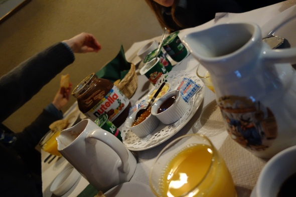 Breakfast - time to leave Montferrand for Monpazier