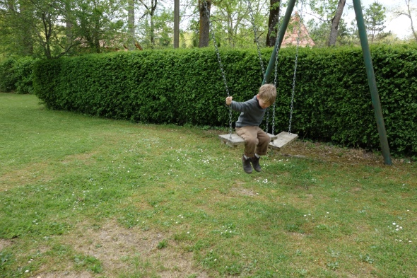 France provided a wonderland of contraband park equipment that our kids are very unlikely to see in the States like see saws and unruly swings.