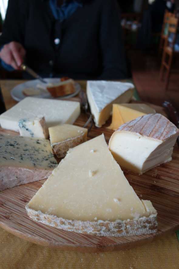 "More ""would be illegal in the US activity"" - this cheese board gets passed around table to table.  No sneeze guard, No gloves, help yourself and pass it along."